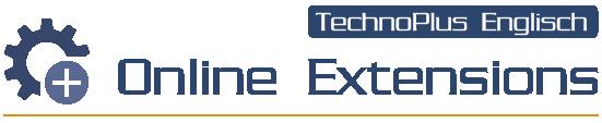TechnoPlus Online Extensions - Online-Erweiterungen zu TechnoPlus Englisch